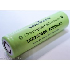 Vappower INR20700A 3000mAh Battery