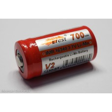 Efest 16340 V2 IMR 700mAh - Button Top