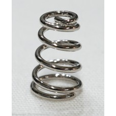 Nickel Plated Spring 5mm TD, 7mm BD, 10mm H, 0.8mm WT
