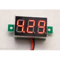 Mini DC Voltage Meter - 2.5V to 30V - Red Digital Readout