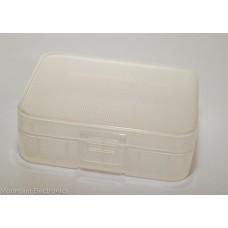2 x 14500 or AA Plastic Storage Case