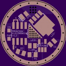 20mm Single-Sided FET + LDO Driver PCB - for 2S+ ESW.