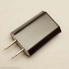 USB 1A AC Wall Adapter - Black